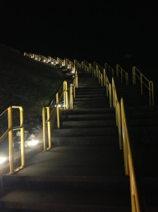 the stairs to the lawn section. major workout!