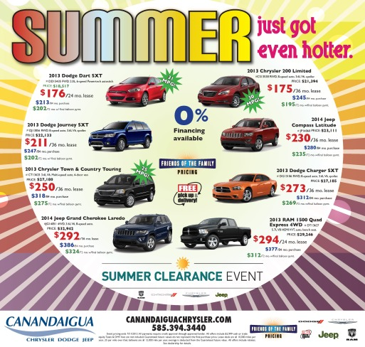 Canandaigua Chrysler Dodge Jeep Summer Ad