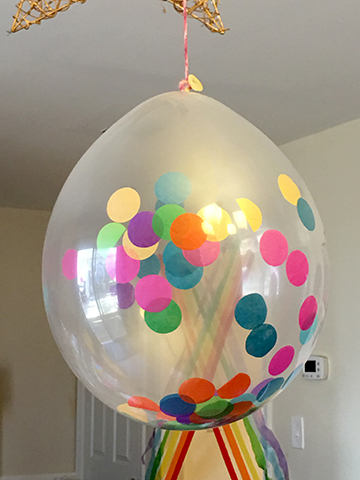 rainbow confetti balloon full