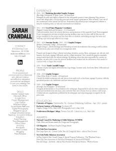 Sarah Crandall Resume 2017