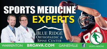 Blue Ridge Orthopaedic and Spine center sports medicine billboard